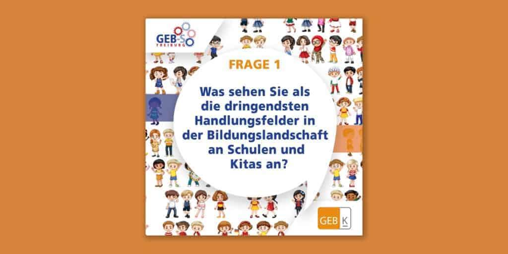 """Was sind die dringendsten Handlungsfelder? Frage 1 bei """"Eltern fragen Landtagswahl-Kandidat*innen"""""""