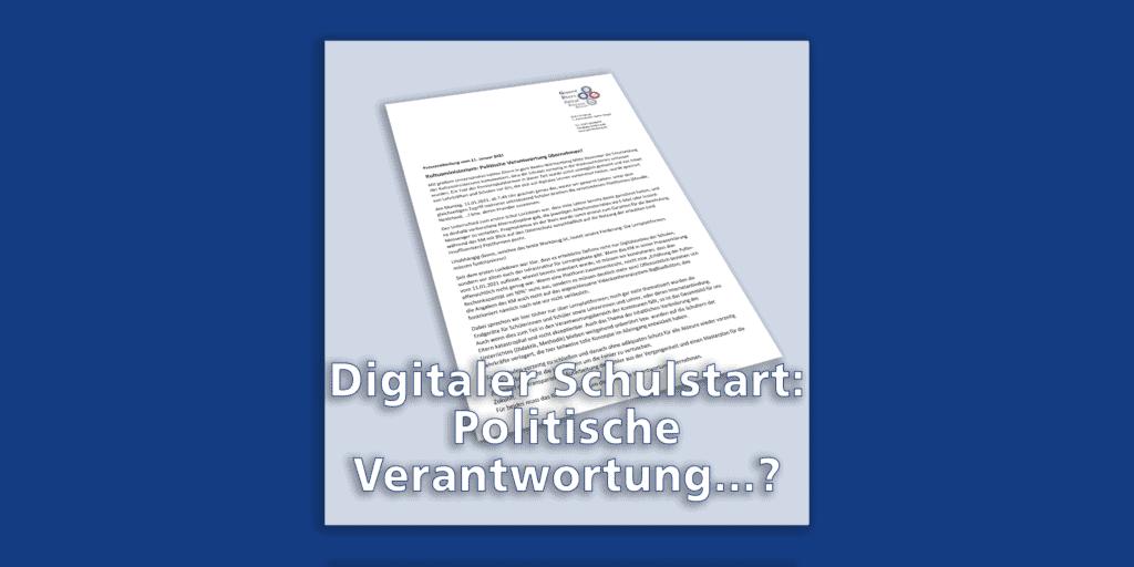 Kultusministerium: Politische Verantwortung übernehmen!