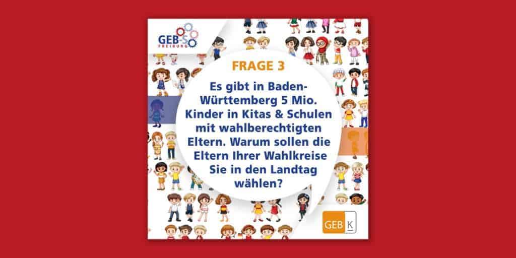 """Warum sollten Eltern Sie in den Landtag wählen? Frage 3 bei """"Eltern fragen Landtagswahl-Kandidat*innen"""""""