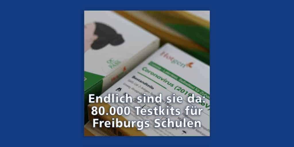 Auf den letzten Drücker: 80.000 Schnelltest-Kits in Freiburg eingetroffen