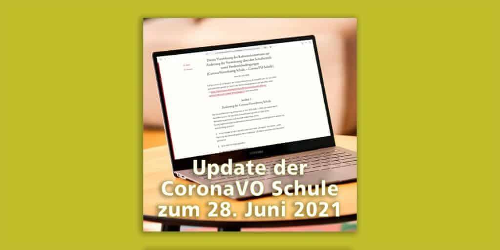 Update CoronaVO Schule: Regelung zum Schulessen stark vereinfacht
