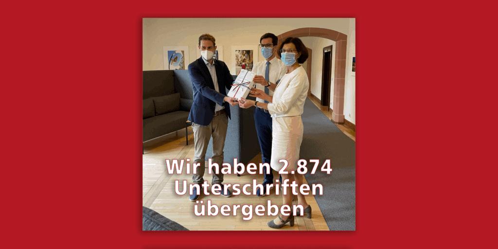 2874 Unterschriften für 4665 Schulkinder übergeben
